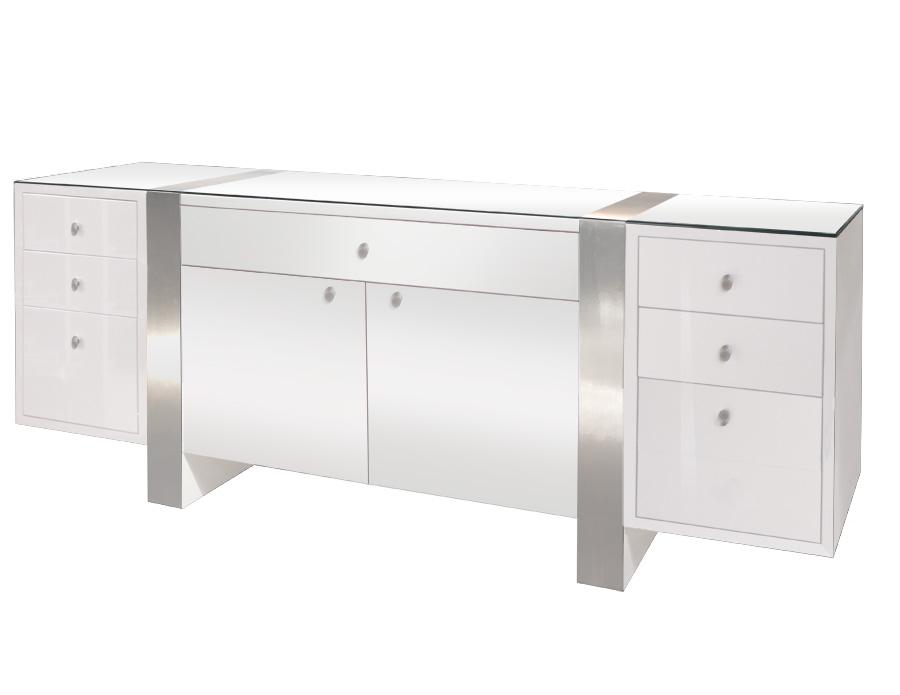Nero lacquer for Modern office credenza furniture