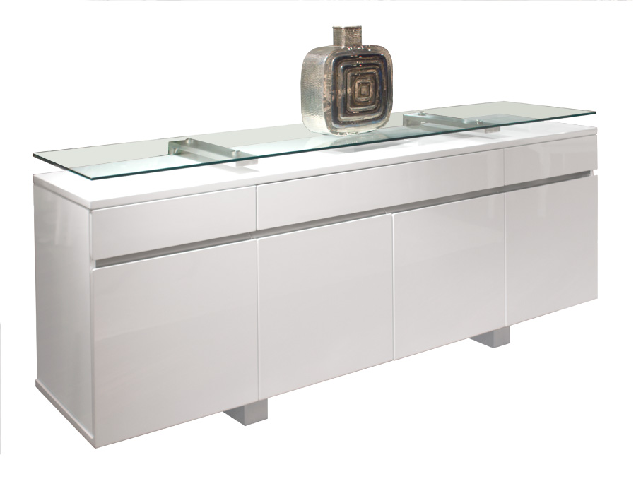 Novo White Lacquer Buffet : novo white lacquer buffet from sharellefurnishings.com size 900 x 695 jpeg 60kB