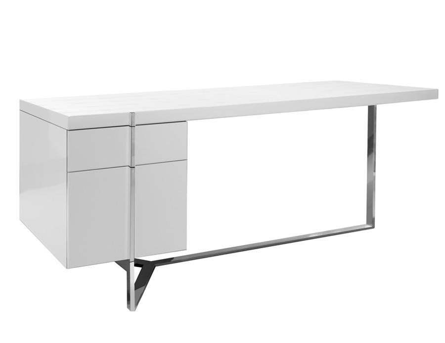 Martelli White Lacquered Desk